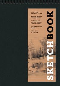 Sketchbook (Basic Medium Spiral Fliptop Landscape Black) by Sterling Publishing Co., Inc., 9781454909125