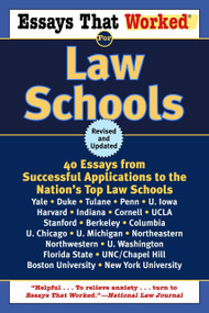 Essays That Worked for Law Schools (Revised) (40 Essays from Successful Applications to the Nation's Top Law Schools) by Boykin Curry, Brian Kasbar, 9780345450425