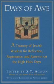Days of Awe (A Treasury of Jewish Wisdom for Reflection, Repentance, and Renewal  on the High  Holy Days) by Shmuel Yosef Agnon, 9780805210484