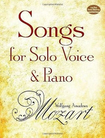 Songs for Solo Voice and Piano by Wolfgang Amadeus Mozart, 9780486275680