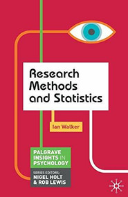 Research Methods and Statistics by Ian Walker, 9780230249882