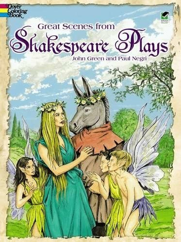 Great Scenes from Shakespeare's Plays Coloring Book by John Green, Paul Negri, 9780486409603