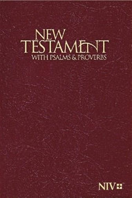 NIV, New Testament with Psalms and   Proverbs, Pocket-Sized, Paperback, Burgundy (Miniature Edition) by  Zondervan, 9781563206634