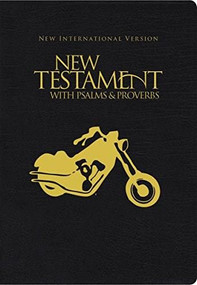 NIV, New Testament with Psalms and   Proverbs, Pocket-Sized, Paperback, Black Motorcycle (Miniature Edition) by  Zondervan, 9781563207167