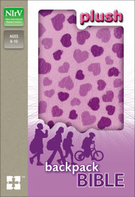 NIrV, Plush Backpack Bible, Hardcover, Purple by  Zondervan, 9780310745228
