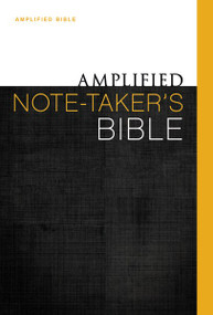 Amplified Note-Taker's Bible, Hardcover by  Zondervan, 9780310432180