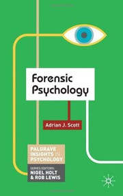 Forensic Psychology by Adrian Scott, 9780230249424