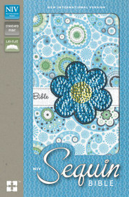 NIV, Sequin Bible, Leathersoft, Blue by  Zondervan, 9780310730972