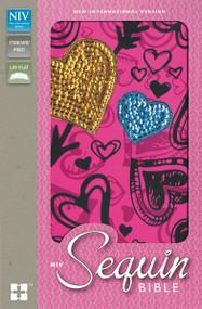 NIV, Sequin Bible, Hardcover, Pink by  Zondervan, 9780310731139