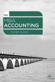 MBA Accounting by Roger Hussey, 9780230303379