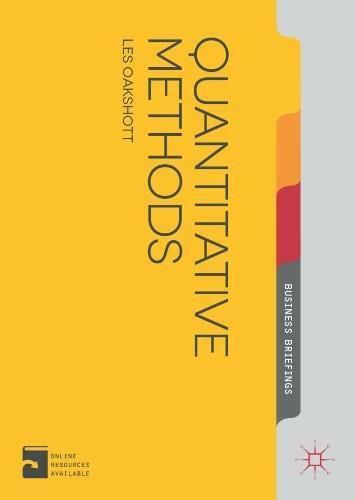 Quantitative Methods by Les Oakshott, 9781137340856