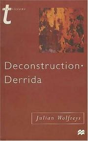 Deconstruction - Derrida by Julian Wolfreys, 9780312213930