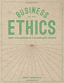 Business Ethics (New Challenges in a Globalised World) by Janet Morrison, 9781137309495