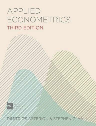 Applied Econometrics by Dimitrios Asteriou, Stephen G. Hall, 9781137415462