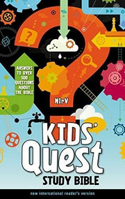 NIrV, Kids' Quest Study Bible, Hardcover (Answers to over 500 Questions about the Bible) by  Zondervan, 9780310744856