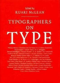 Typographers on Type by Ruari McLean, 9780393702019