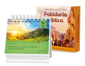 Cada día con su frase—SABIDURÍA BÍBLICA (Un diario Quotebook en práctico formato de escritorio) by Brooke Wexler, Jorge Sola, 9781632640031
