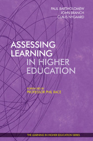 Assessing Learning in Higher Education by Claus Nygaard, 9781909818811