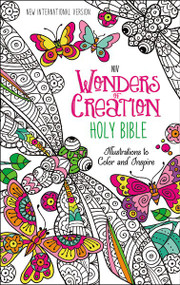 NIV Wonders of Creation Holy Bible, Hardcover (Illustrations to Color and Inspire) by  Zondervan, 9780310758914