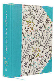 NKJV, Journal the Word Bible, Large Print, Cloth over Board, Blue Floral, Red Letter (Reflect, Journal, or Create Art Next to Your Favorite Verses) by Thomas Nelson, 9780718090913
