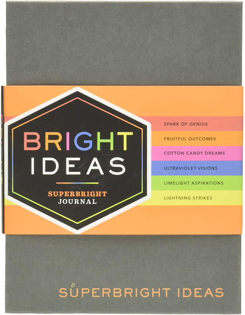 Bright Ideas Superbright Journal ((Colorful Journals, Journals for Kids, Doodling Journal)) by Chronicle Books, 9781452156002