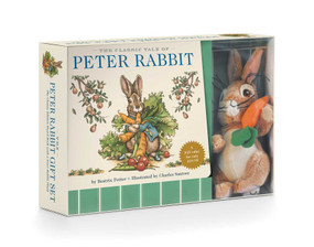 The Peter Rabbit Plush Gift Set (The Classic Edition Board Book + Plush Stuffed Animal Toy Rabbit Gift Set) by Charles Santore, Beatrix Potter, 9781604336856