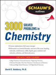 3,000 Solved Problems In Chemistry by David E. Goldberg, 9780071755009