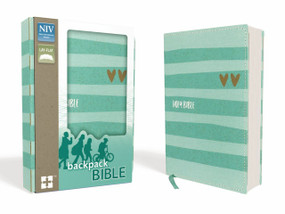 NIV Backpack Bible, Compact, Flexcover, Turquoise/Gold by  Zondervan, 9780310760641