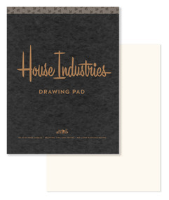 House Industries Drawing Pad (40 Acid-Free Sheets, Drawing Tips, Extra-Thick Backing Board) by House Industries, 9780451499554