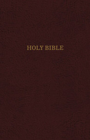 KJV, Thinline Reference Bible, Leather-Look, Burgundy, Red Letter, Comfort Print (Holy Bible, King James Version) by Thomas Nelson, 9780785215745