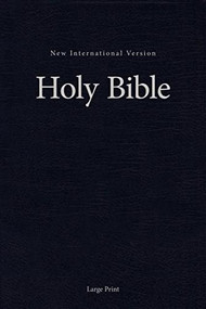 NIV, Single-Column Pew and Worship Bible, Large Print, Hardcover, Blue by  Zondervan, 9780310446453