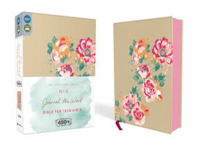 NIV, Journal the Word Bible for Teen Girls, Leathersoft over Board, Gold/Floral, Red Letter Edition (Includes Over 450 Journaling Prompts!) by  Zondervan, 9780310447931