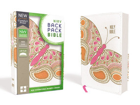 NIrV Backpack Bible, Flexcover, Pink Butterfly by  Zondervan, 9780310761570