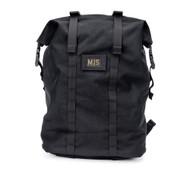 Roll Up Backpack - Black - Front