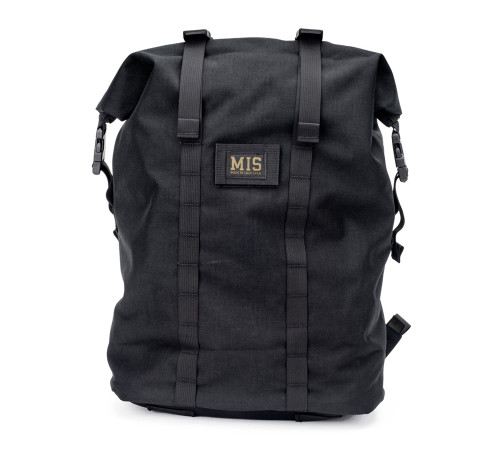 Roll Up Backpack - Black - Front