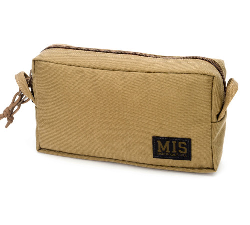 Slim Mesh Toiletry Bag - Coyote Tan - Front