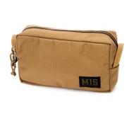 Slim Mesh Toiletry Bag - Coyote Brown - Front