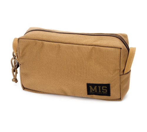 Slim Mesh Toiletry Bag - Coyote Brown - Front