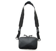 All Weather Shoulder Bag - Black - Front with Strap
