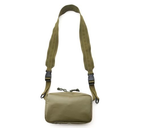 All Weather Shoulder Bag - Olive Drab - Front with Strap