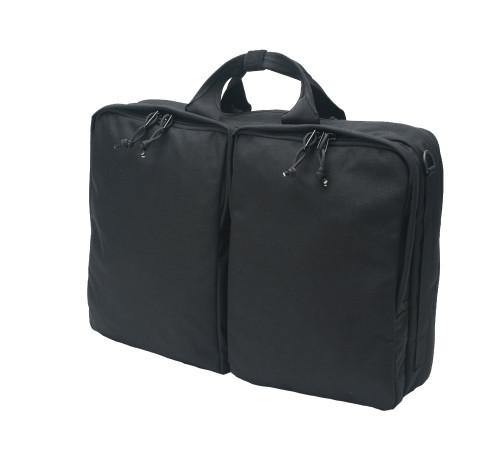 3 Way Brief Bag - Black - Front