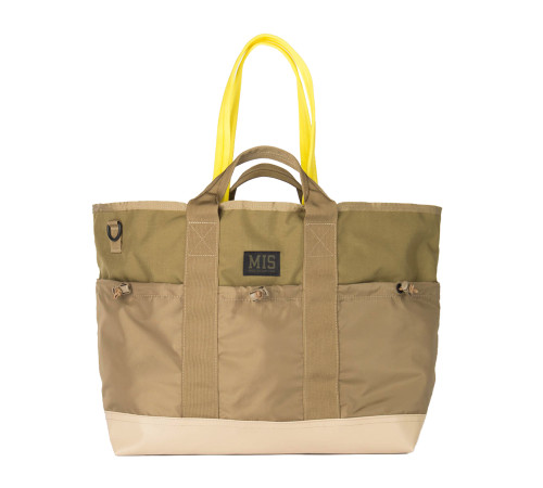 Multi Pocket Tote Bag - Olive Drab - Front