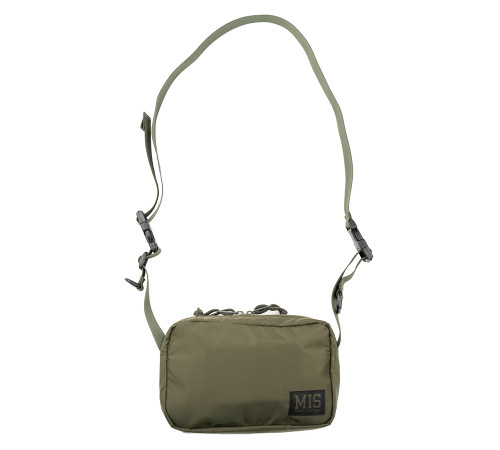 All Shoulder Bag Small - Olive - Front with Strap