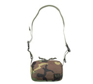 All Shoulder Bag Small - Woodland Camo - Front with Strap