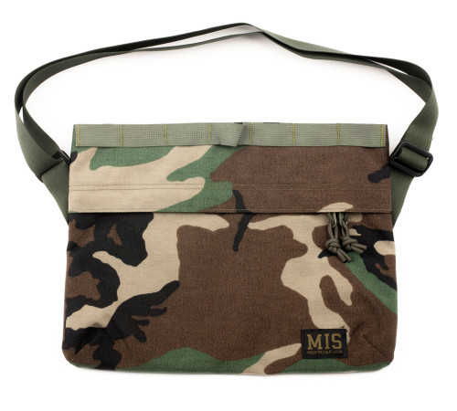 Padded Shoulder Bag - Woodland Camo