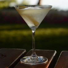 Riedel Martini- Pair, etched