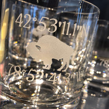 Buffalo Coordinates Double Old Fashioned- Set of 4