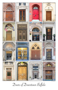 Doors of Downtown Buffalo- Framed