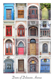 Doors of Delaware Ave- Framed