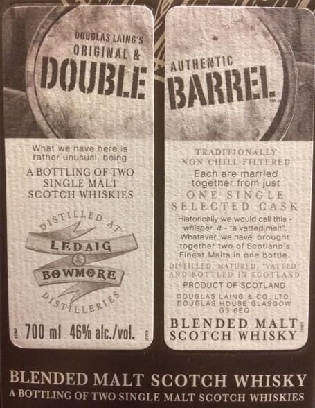 Double Barrel Ledaig & Bowmore Blended Scotch
